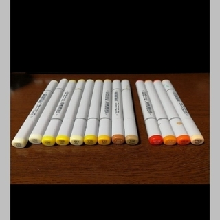 ツゥールズ(TOOLS)のコピック スケッチ 12本 黄系 Y YR(カラーペン/コピック)