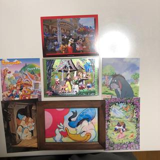 ディズニー(Disney)のディズニー ポストカード 7枚 額1つ付き(写真/ポストカード)