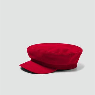 ザラ(ZARA)の新品 赤 キャスケット(キャスケット)