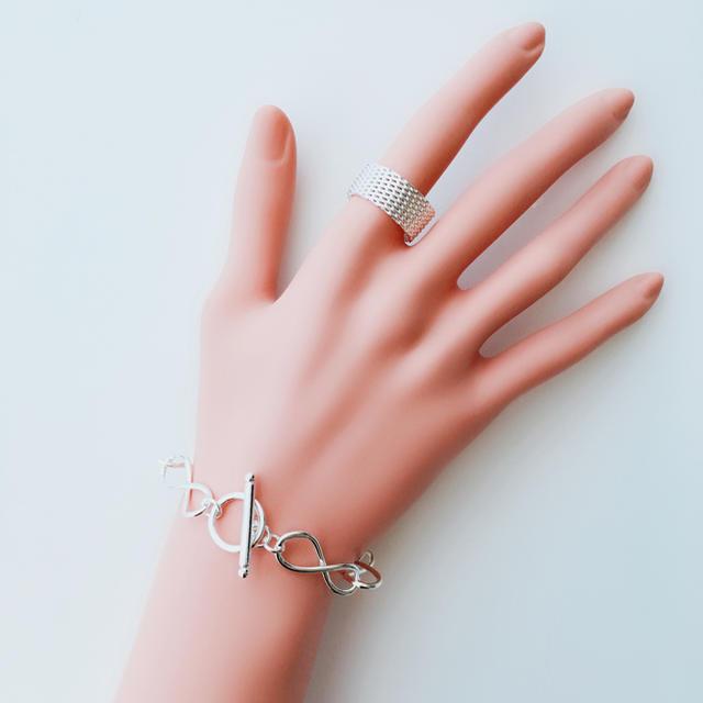 シルバーメッシュリング メンズのアクセサリー(リング(指輪))の商品写真