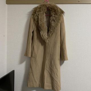 ノーベスパジオ(NOVESPAZIO)のNOVESPAZIO 羊毛コート(アンゴラファー)(毛皮/ファーコート)