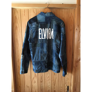 エルヴィア(ELVIA)のELVIRA パッチワーク デニム  ジャケット L 美品 Sup 完売 レア(Gジャン/デニムジャケット)