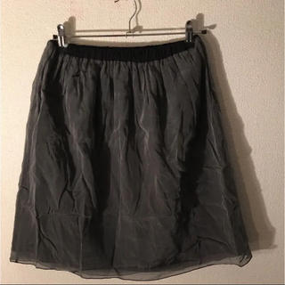 デミルクスビームス(Demi-Luxe BEAMS)の値下中!シースルー二重スカート(ひざ丈スカート)