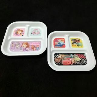 ディズニー(Disney)のランチプレート皿 2枚セット(プレート/茶碗)
