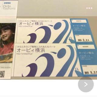 限定 値下げ オービィ 横浜 ペア チケット円(遊園地/テーマパーク)