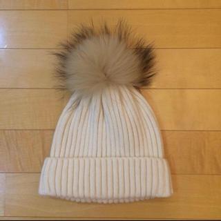 ルシェルブルー(LE CIEL BLEU)の新品未使用 VOLATAニット帽 ルシェルブルー購入(ニット帽/ビーニー)