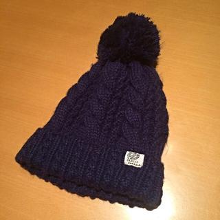 ネイビー ニット帽(ニット帽/ビーニー)