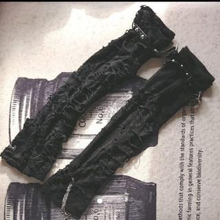 セックスポットリベンジ(SEX POT ReVeNGe)のセックスポットリベンジ アームウォーマー アームカバー クラッシュ加工 (手袋)