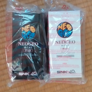 ネオジオ(NEOGEO)のネオジオミニパッド 白と黒 新品未開封(家庭用ゲーム本体)
