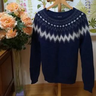 ガルヴァナイズ(Galvanize)の✨GLV/galvanize(ガルバナイズ)ウール100紺色のセーター2Lサイズ(ニット/セーター)