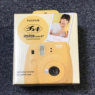 フジフイルム(富士フイルム)の富士フィルム チェキ  instax mini 8+ ハニー色  新品未使用(フィルムカメラ)