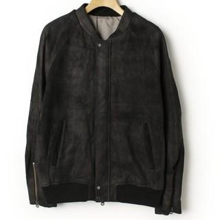 シャマ(shama)のシャマ レザーMA-1 美品 サイズ40 ブラック 定価51840円(ブルゾン)