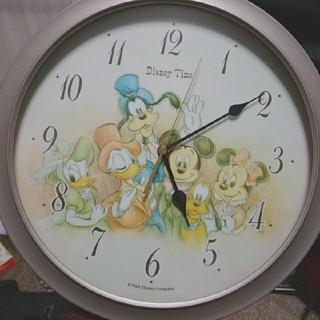 ディズニー(Disney)のディズニータイム 時計 置時計 おしゃれ かわいい 電池式 未使用 電池新品(掛時計/柱時計)