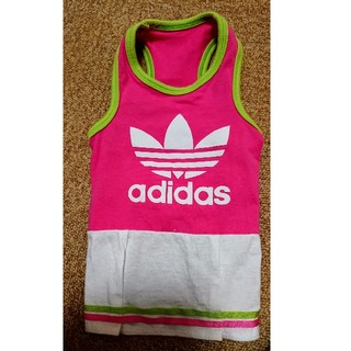 アディダス(adidas)の犬洋服 adidas ワンピース(Mくらい)(犬)