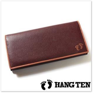 ハンテン(HANG TEN)の新品 ハンテン 高級 長財布 実売5千円以上 水牛革 濃茶(長財布)