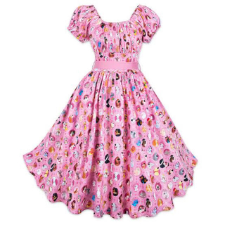 ディズニー(Disney)の【新品】ディズニードッグ WDW ワンピース ピンク ドレス(ひざ丈ワンピース)