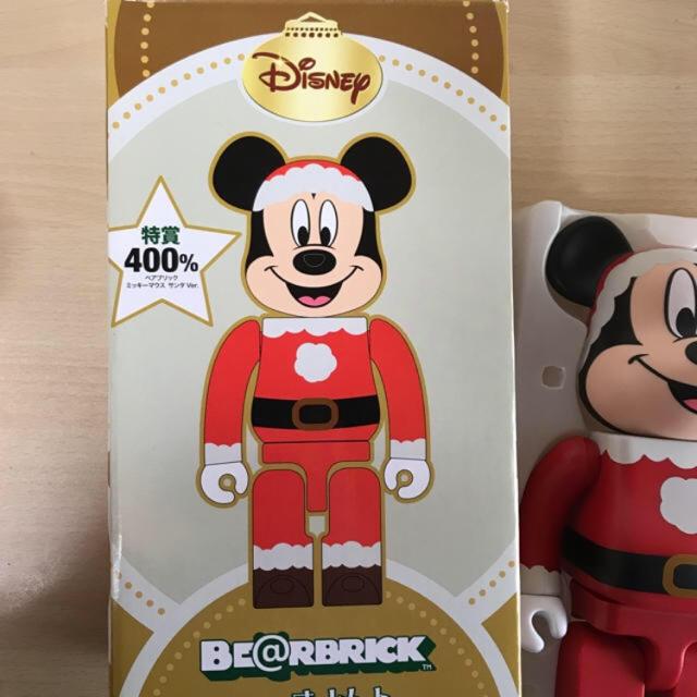 MEDICOM TOY(メディコムトイ)のミッキーマウス ベアブリック   be@rbrick サンタ クリスマス エンタメ/ホビーのフィギュア(その他)の商品写真