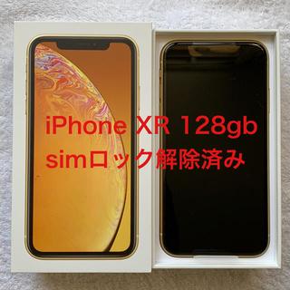 アイフォーン(iPhone)の iPhoneXR 128gb simフリー(スマートフォン本体)