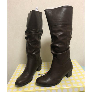 マルイ(マルイ)の✨新品未使用✨ロングブーツ✨ダークブラウン 大きいサイズ 4L(ブーツ)