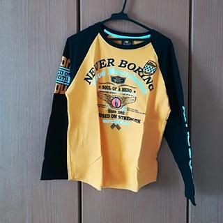 バッドボーイ(BADBOY)の黒と黄色のロゴTシャツ(Tシャツ/カットソー(七分/長袖))