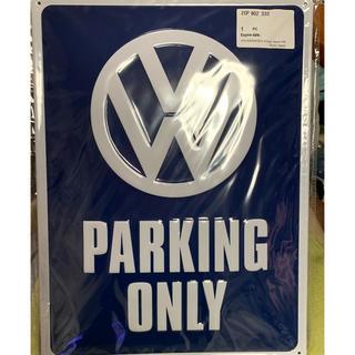 """フォルクスワーゲン(Volkswagen)の🚘 VW純正ノスタルジックサイン""""VW PARKING ONLY"""" ブリキ看板(車外アクセサリ)"""