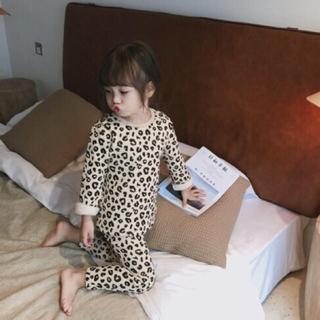 ザラキッズ(ZARA KIDS)の韓国子供服▼上下 セットアップ パジャマ レオパード柄(パジャマ)