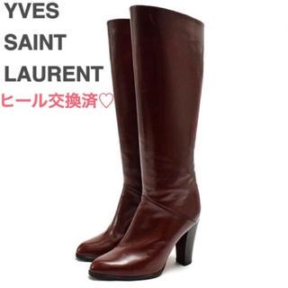 サンローラン(Saint Laurent)のイヴ・サンローラン 本革レザーブーツ 美品(ブーツ)
