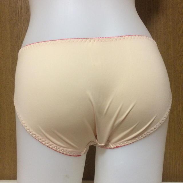 小花プリント ブラショー E75L オレンジ レディースの下着/アンダーウェア(ブラ&ショーツセット)の商品写真