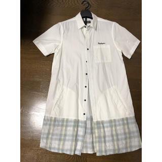 サブサエティ(Subciety)のzephyren ロングシャツ ホワイト(Tシャツ/カットソー(半袖/袖なし))