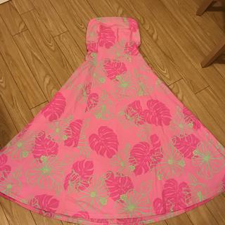 フラダンス衣装 ピンクドレス(ダンス/バレエ)
