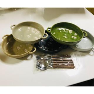 ウノチヨ(宇野千代)の宇野千代 シチュー皿 グラタン皿 5セット マルチスプーン(食器)
