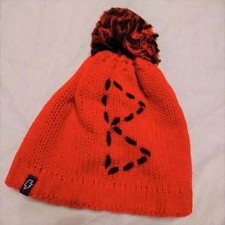 ゴールドウィン(GOLDWIN)のゴールドウィン☆ニット帽 赤 日本製(ニット帽/ビーニー)