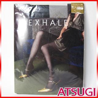 アツギ(Atsugi)の新品未使用 ATSUGI Exhale グリッターハート柄ストッキング (タイツ/ストッキング)