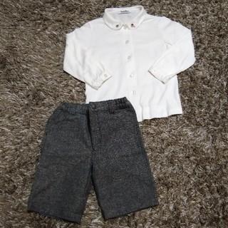 74bef6720a6f2 ファミリア(familiar)の☆ファミリア☆白シャツとズボンのセット size100(