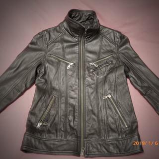 フーガ(FUGA)の極美品 FUGA レザー ライダースジャケット 44 BLK 本革(ライダースジャケット)