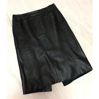 ノーベスパジオ(NOVESPAZIO)のノーペスパジオ レザースカート(ひざ丈スカート)