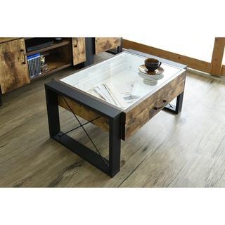 開店記念セール◆ブルックリンスタイルのヴィンテージ風コレクションテーブル(ローテーブル)