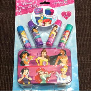 ディズニー(Disney)のラスト1点☆アメリカ購入日本未発売 プリンセス リップセット可愛い缶付(リップケア/リップクリーム)