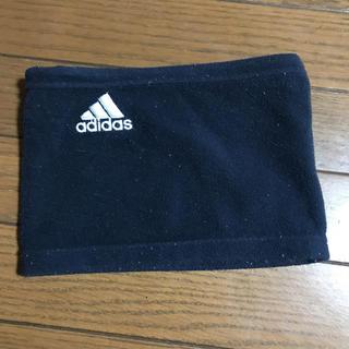 アディダス(adidas)のadidas アディダス ネックウォーマー ネイビー キッズ(マフラー/ストール)