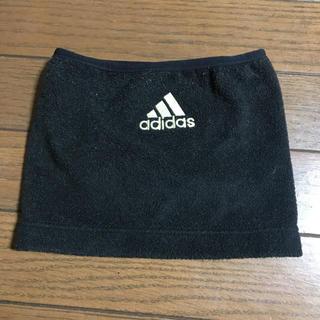 アディダス(adidas)のadidas アディダス ネックウォーマー 黒 キッズ(マフラー/ストール)