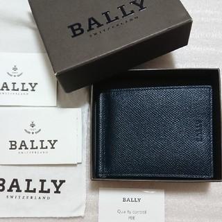 Bally - 超美品 バリー マネークリップ 革製 ネイビー色
