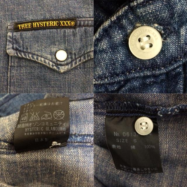 Thee Hysteric XXX(ジィヒステリックトリプルエックス)のTHEE HYSTERIC XXX ヒステリックグラマー デニムシャツ キムタク メンズのトップス(シャツ)の商品写真