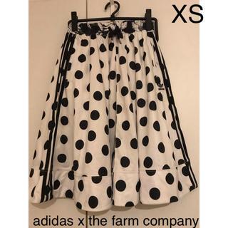 アディダス(adidas)の美品 アディダス Farm 水玉 ミディ スカート XS(ひざ丈スカート)