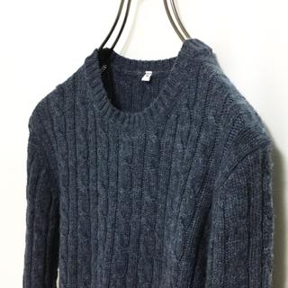 ムジルシリョウヒン(MUJI (無印良品))の無印 無印良品 ニット レディース ケーブルニット セーター ウール100%(ニット/セーター)