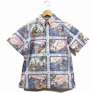 ディズニー(Disney)のDisney ディズニー アロハシャツ Lサイズ ネイビー 未使用品 残り1点(Tシャツ(半袖/袖なし))