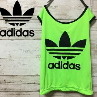 アディダス(adidas)の【新品タグ付】90s アディダス ビッグトレフォイル タンクトップ ゲームシャツ(タンクトップ)