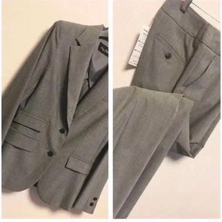 【新品】グレー L M ジャケット ストレートパンツ 秋冬 上着 羽織