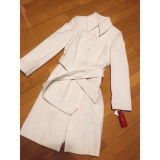 ダイマル(大丸)のウール100パーセント!アインシュリットコート!ホワイトコート! ウールコート!(ロングコート)