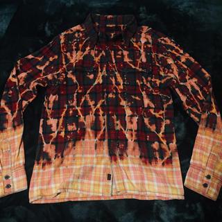トリップニューヨークシティ(Tripp NYC)のビッグサイズ☆ブリーチ加工☆LHP TRIPP トリップ チェックシャツ  (シャツ)