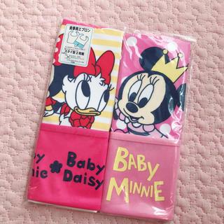 ディズニー(Disney)の新品 ディズニー ミニー エプロン60 70 80 90 出産準備 離乳食(お食事エプロン)
